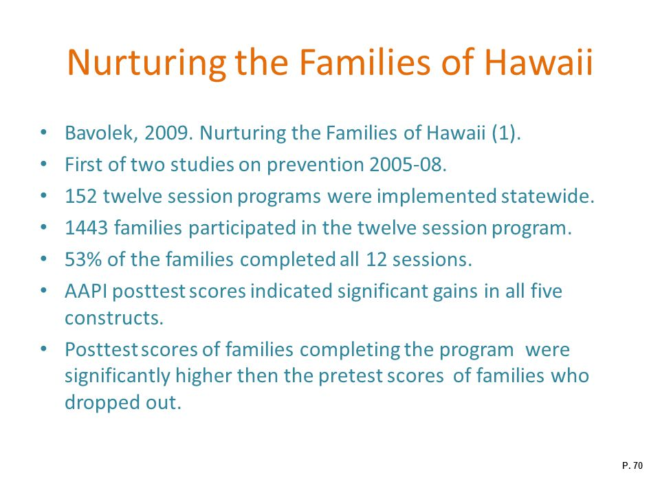 Nurturing the Families of Hawaii