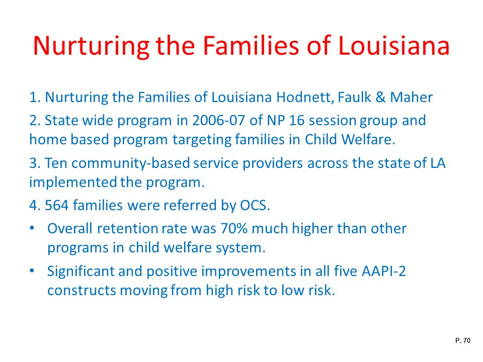 Nurturing the Families of Louisiana