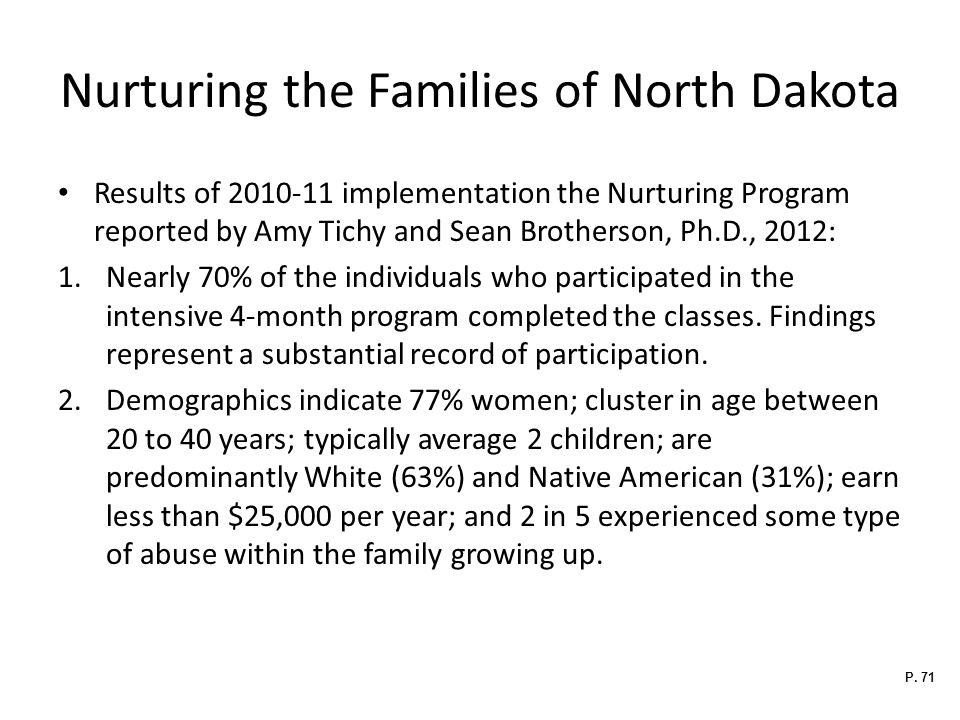Nurturing the Families of North Dakota