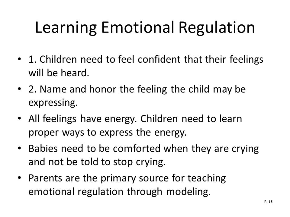 the role of parental emotional regulation Gender differences in the socialization of preschoolers' emotional  that mothers often take on the role of emotional  parental teaching and emotion regulation.