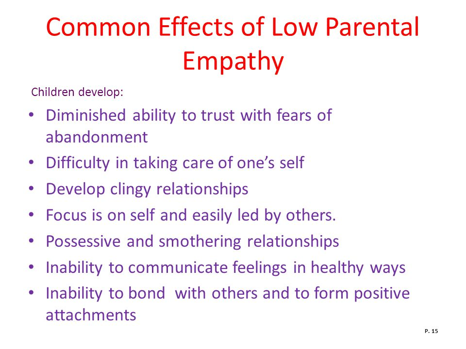 Common Effects of Low Parental Empathy