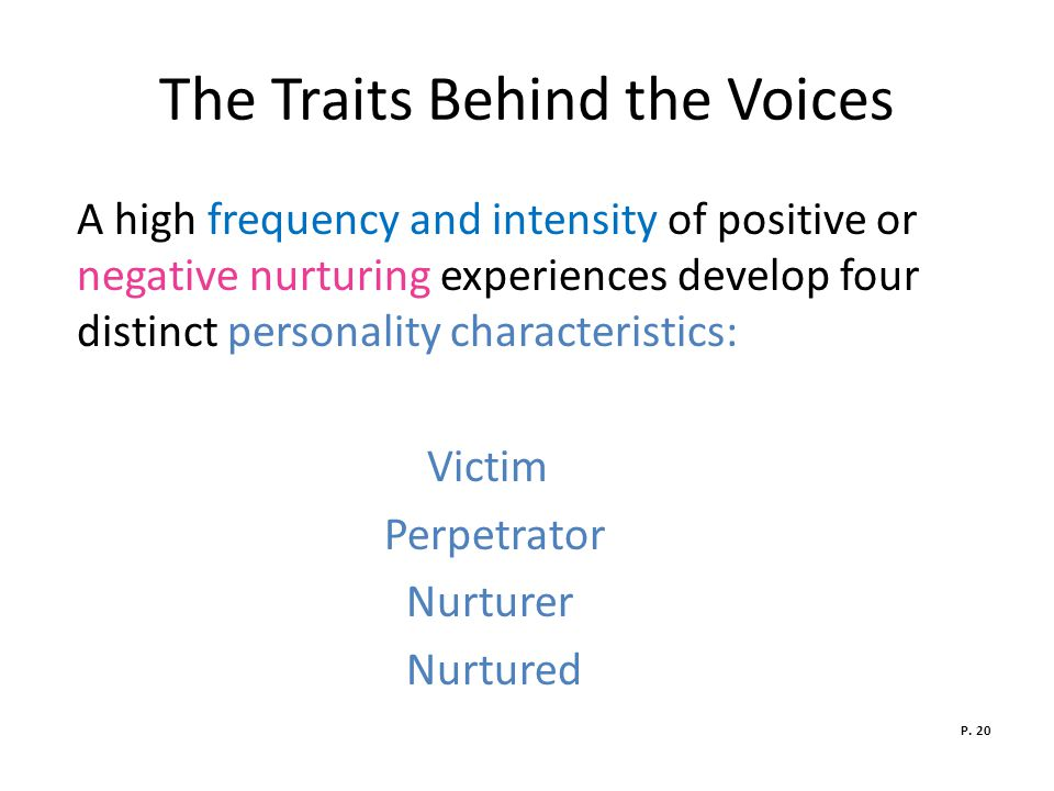 The Traits Behind the Voices