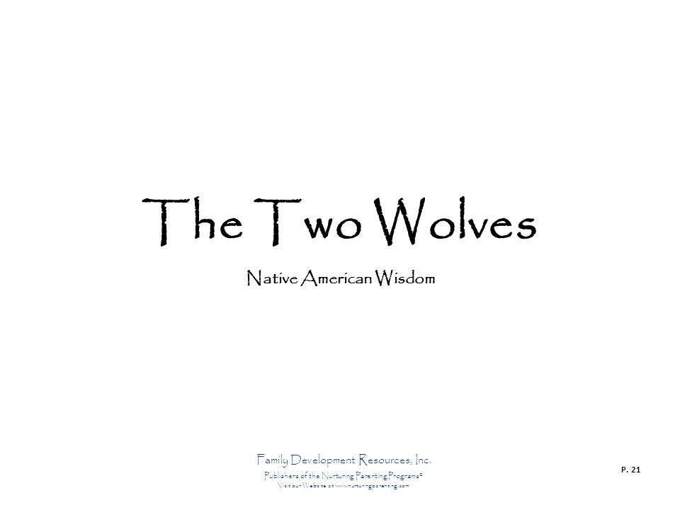 The Two Wolves Native American Wisdom