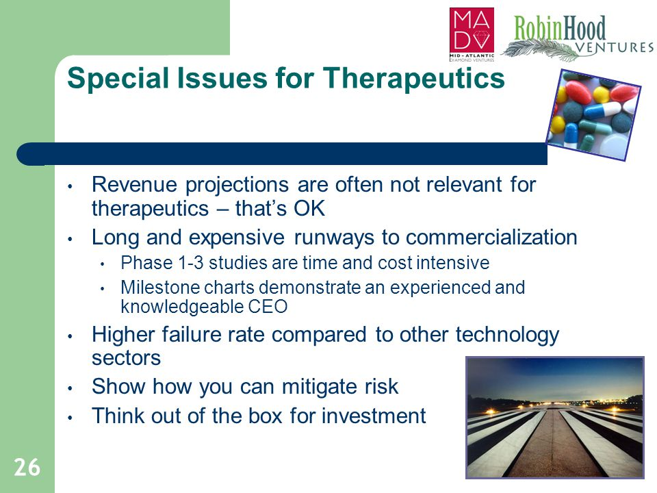 Special Issues for Therapeutics