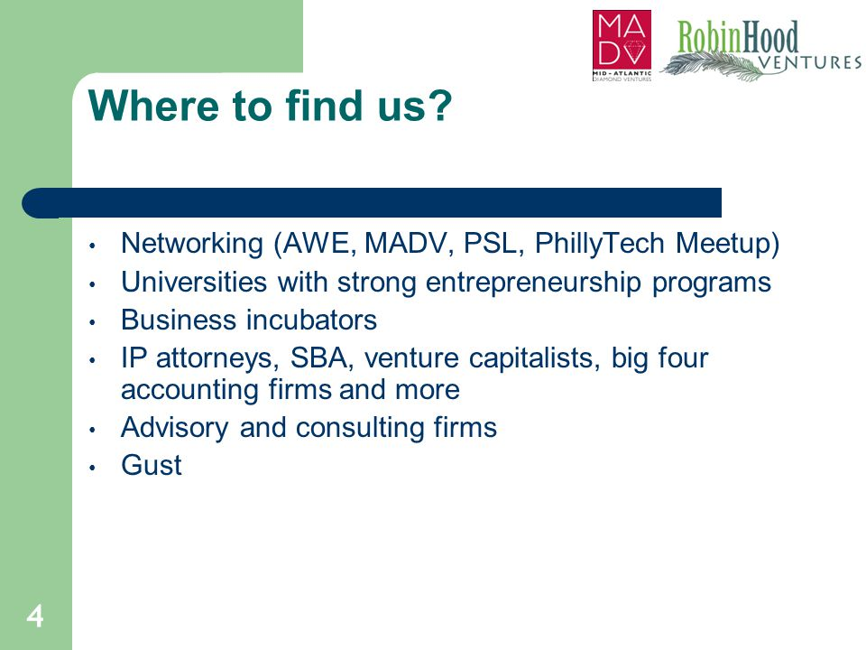 Where to find us Networking (AWE, MADV, PSL, PhillyTech Meetup)