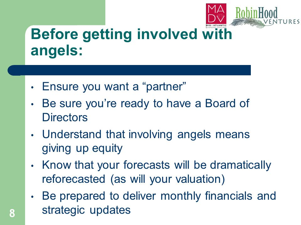 Before getting involved with angels: