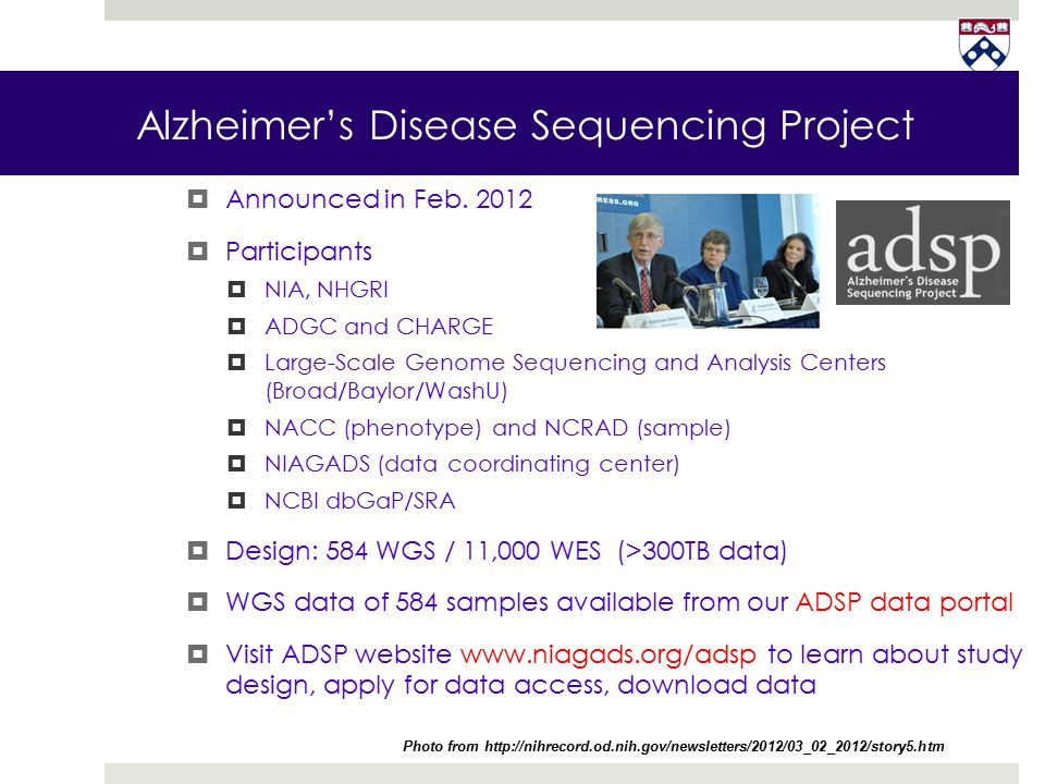 Alzheimer's Disease Sequencing Project