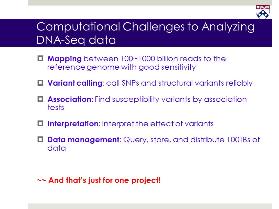 Computational Challenges to Analyzing DNA-Seq data