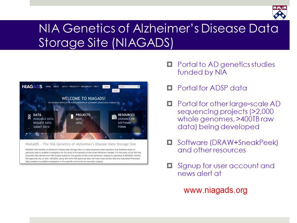 NIA Genetics of Alzheimer's Disease Data Storage Site (NIAGADS)