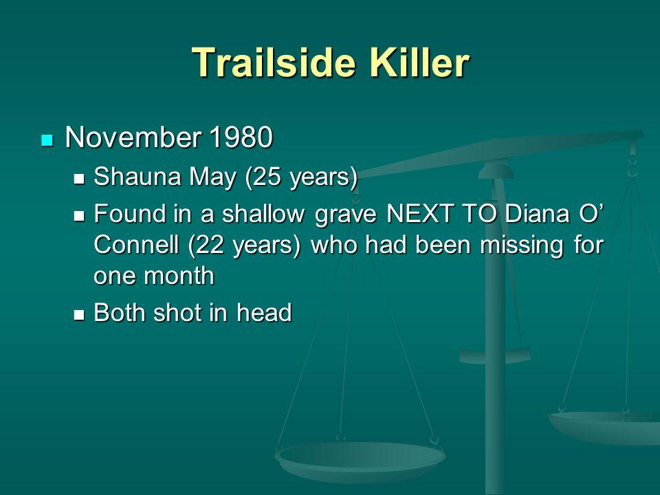 Trailside Killer November 1980 Shauna May (25 years)