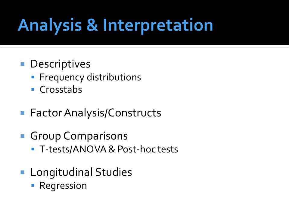 Analysis & Interpretation