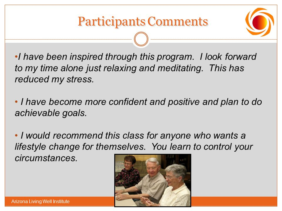 Participants Comments