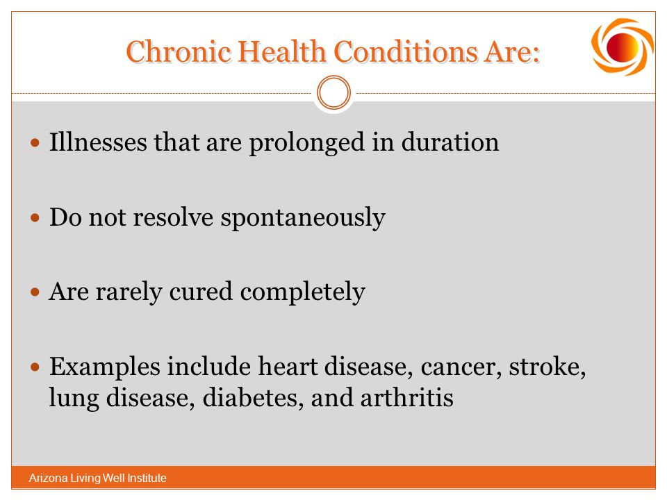 Chronic Health Conditions Are:
