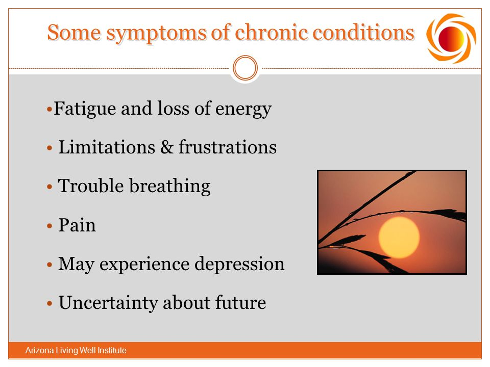 Some symptoms of chronic conditions