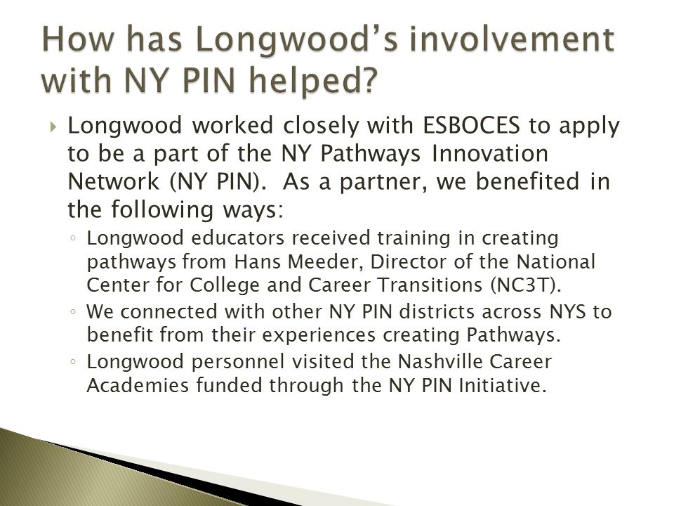 How has Longwood's involvement with NY PIN helped