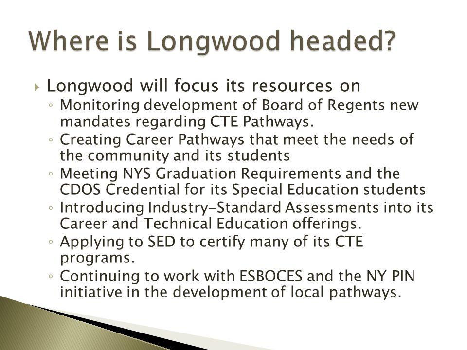 Where is Longwood headed