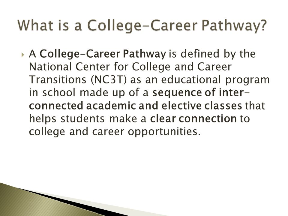 What is a College-Career Pathway