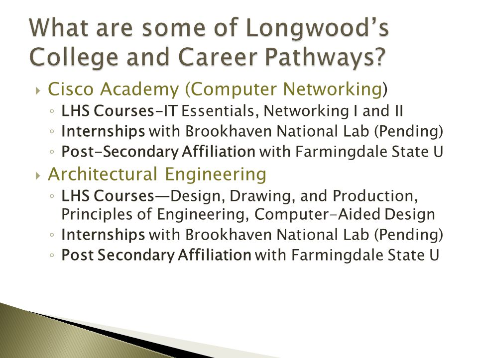 What are some of Longwood's College and Career Pathways