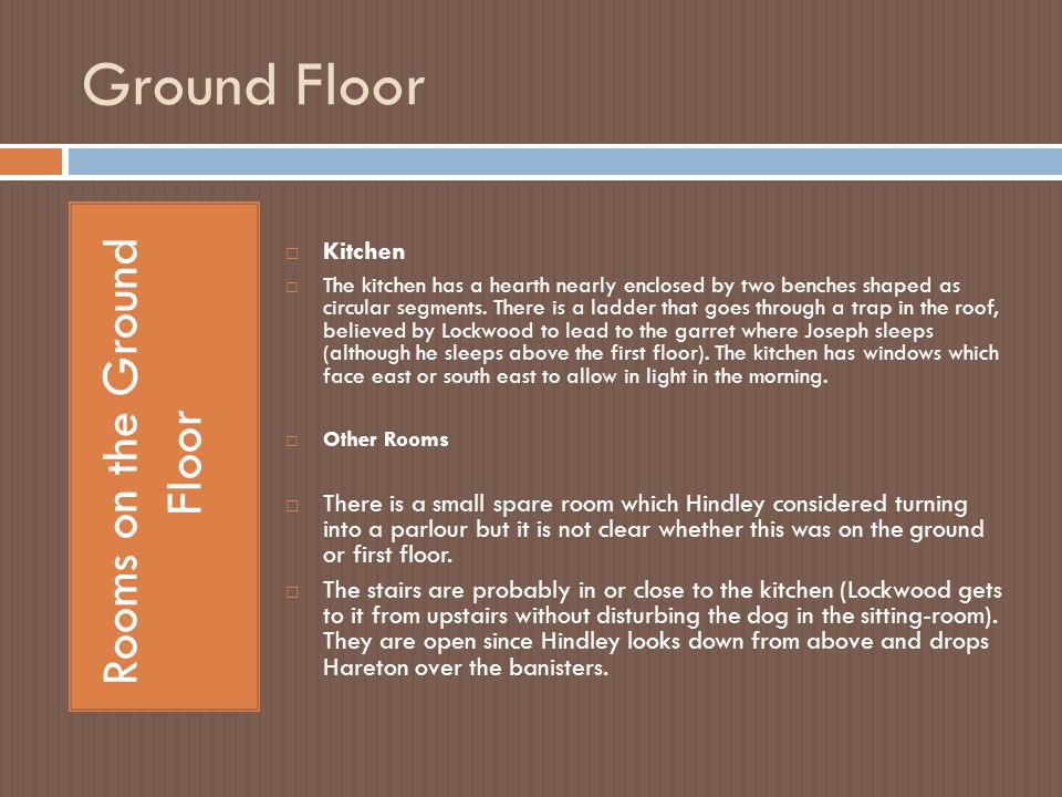 Rooms on the Ground Floor