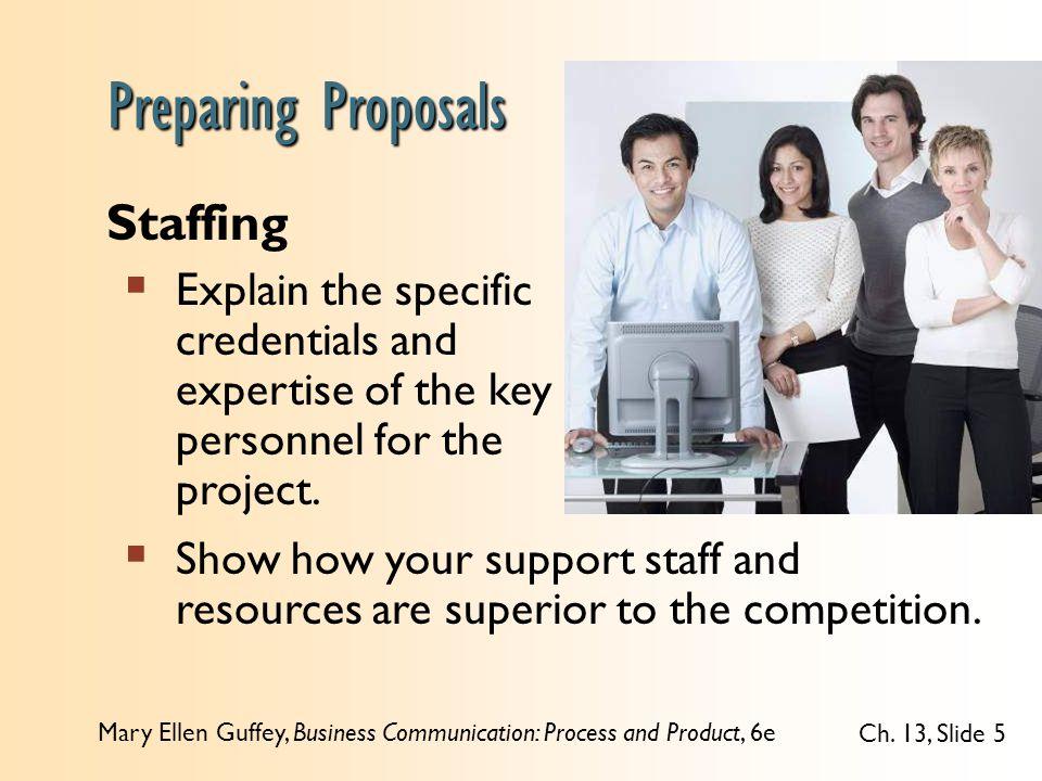 Preparing Proposals Staffing