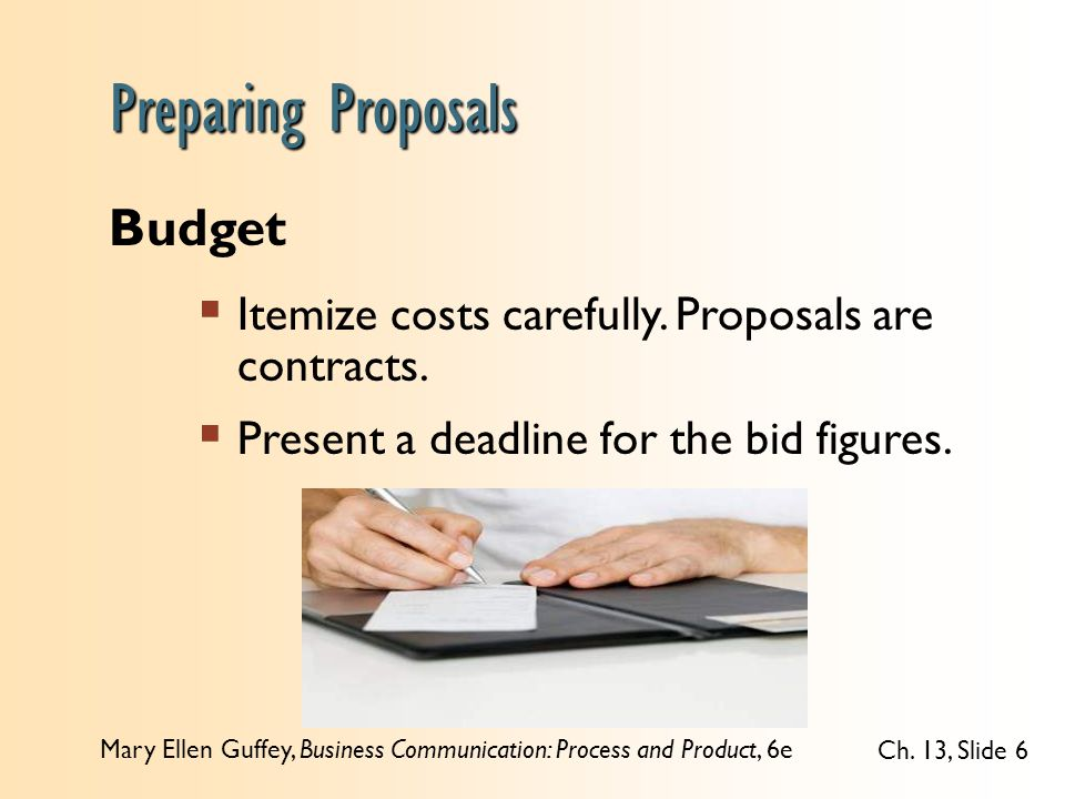 Preparing Proposals Budget