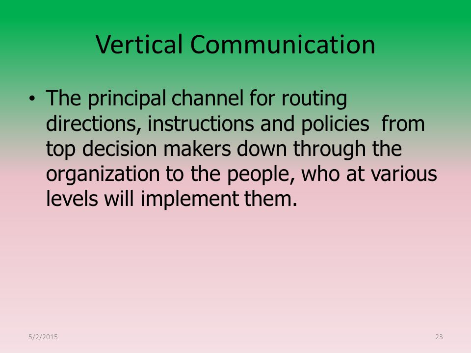Vertical Communication