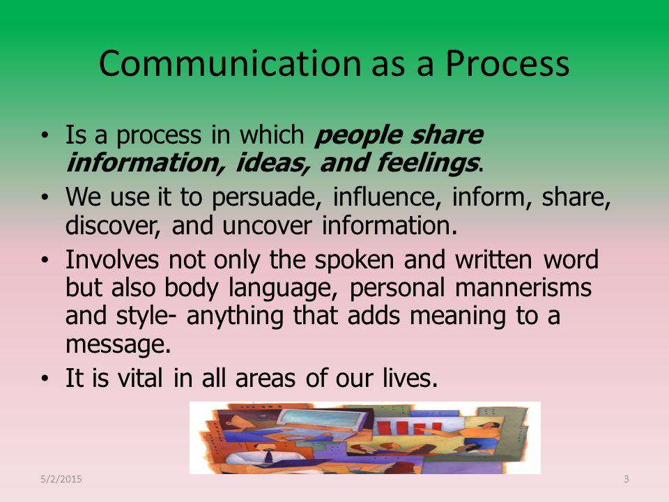 Communication as a Process