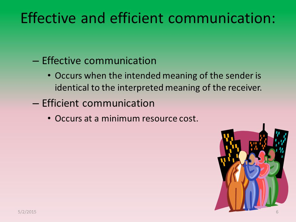 Effective and efficient communication: