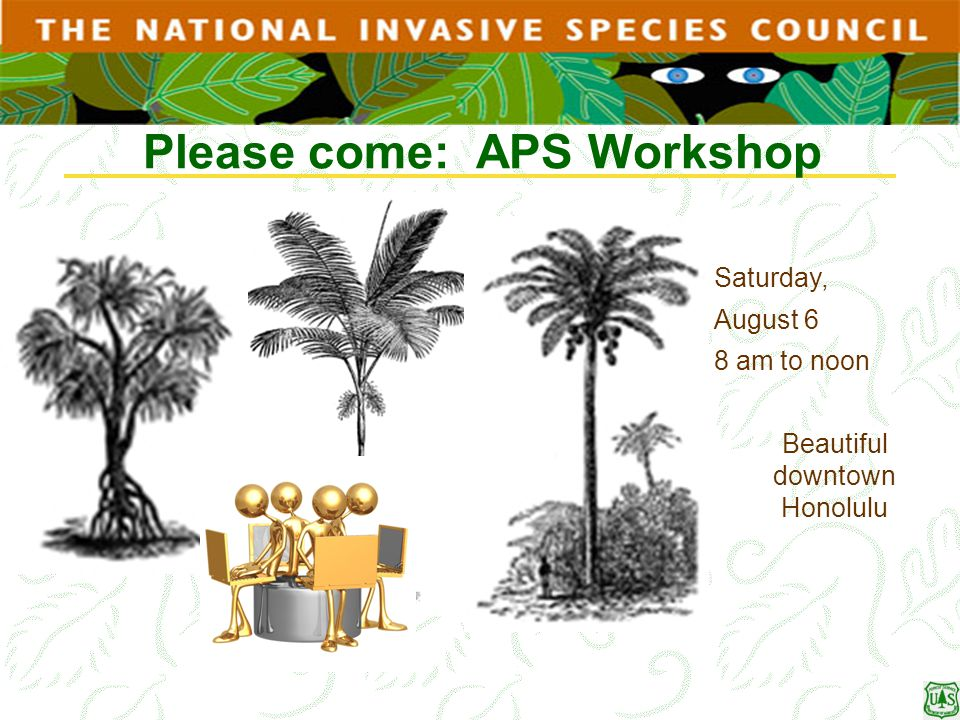 Please come: APS Workshop