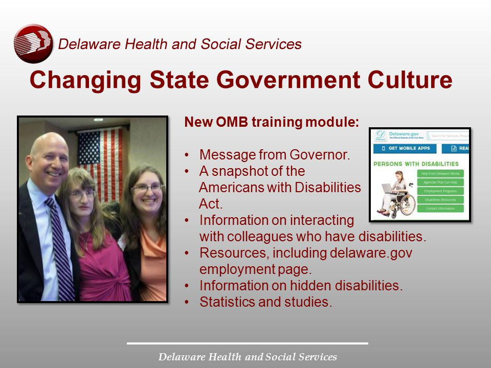 Changing State Government Culture
