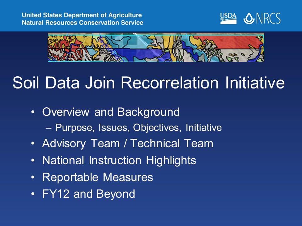 Soil Data Join Recorrelation Initiative