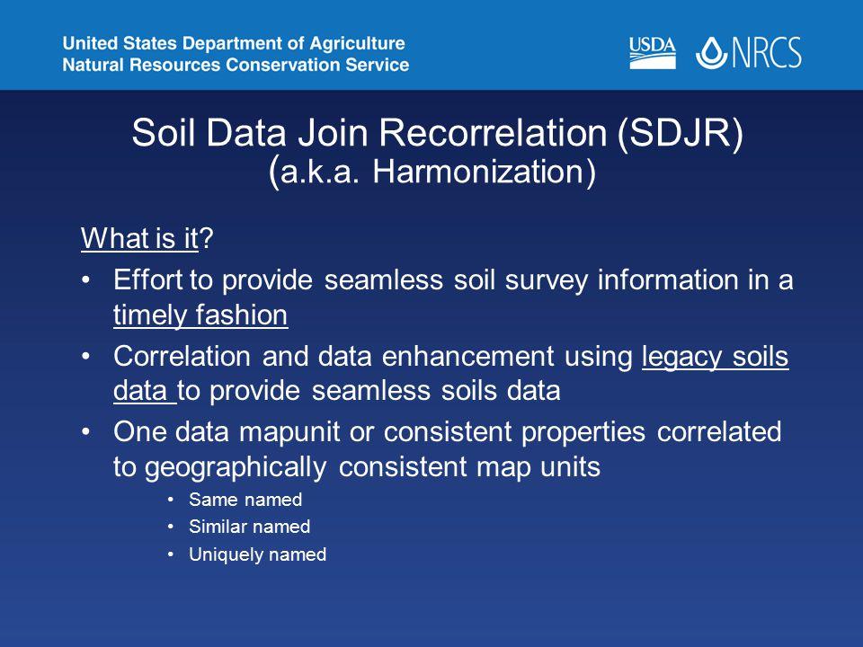 Soil Data Join Recorrelation (SDJR) (a.k.a. Harmonization)