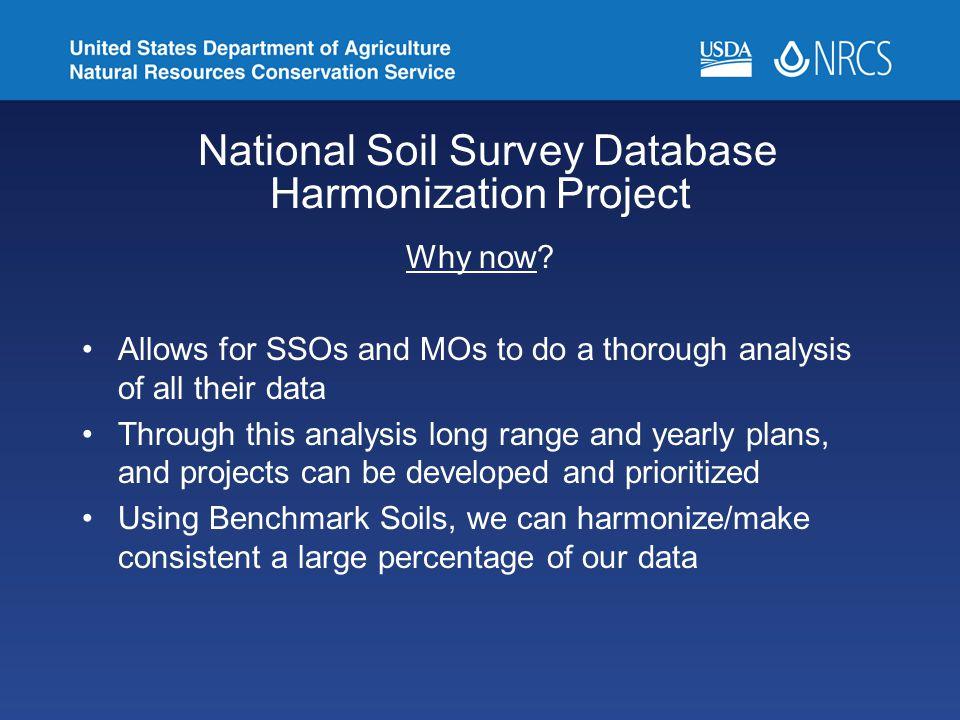 National Soil Survey Database Harmonization Project