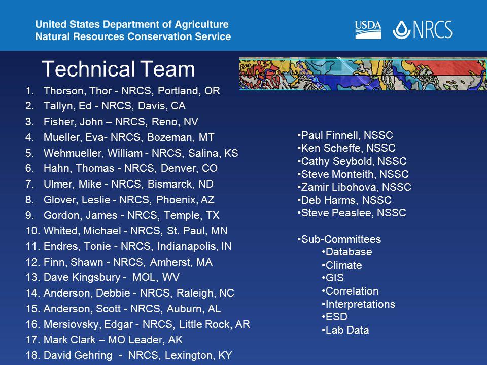 Technical Team Thorson, Thor - NRCS, Portland, OR