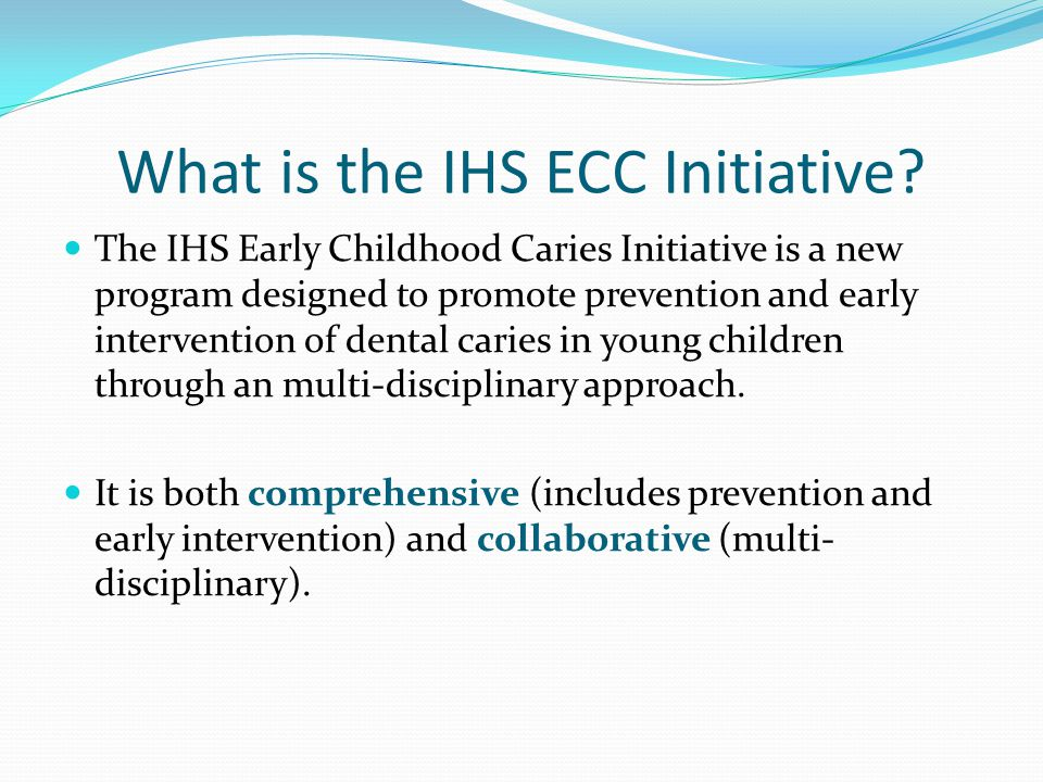 What is the IHS ECC Initiative