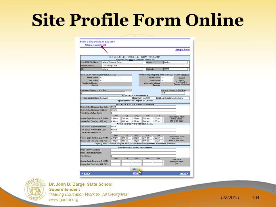 Site Profile Form Online
