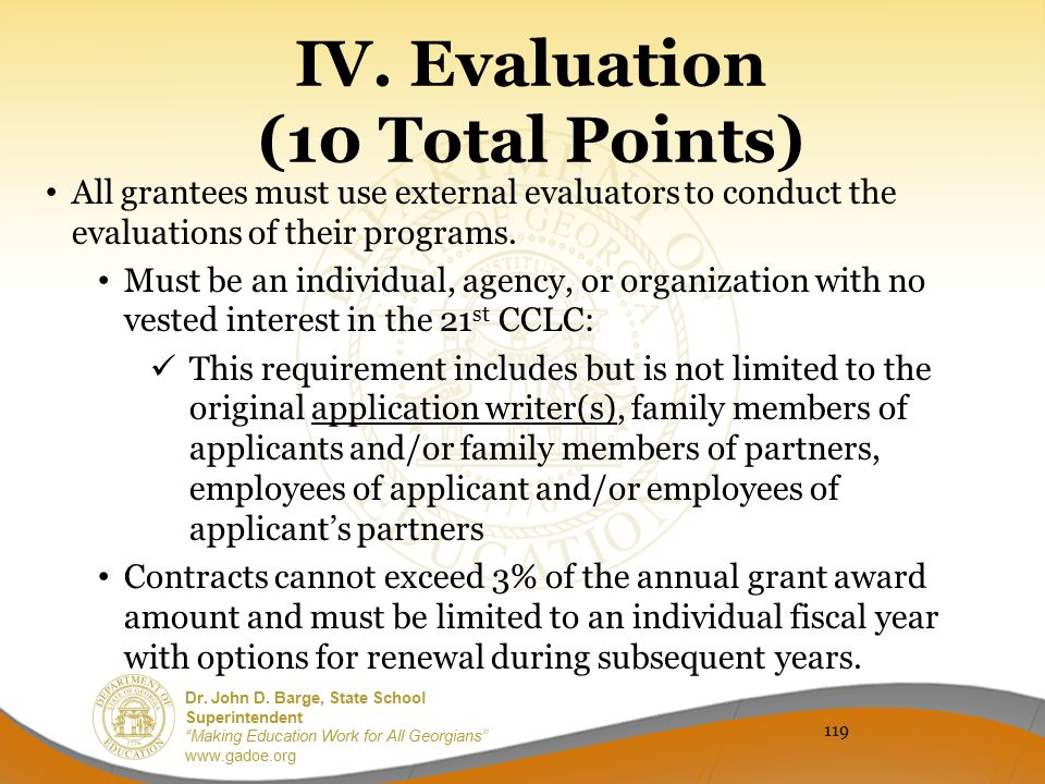IV. Evaluation (10 Total Points)