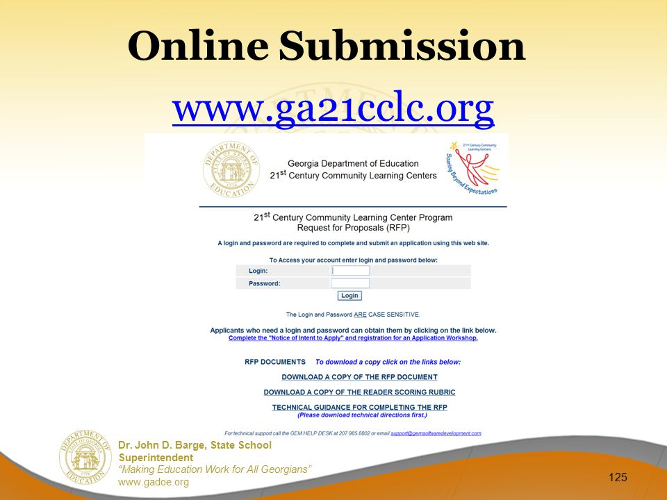 Online Submission www.ga21cclc.org
