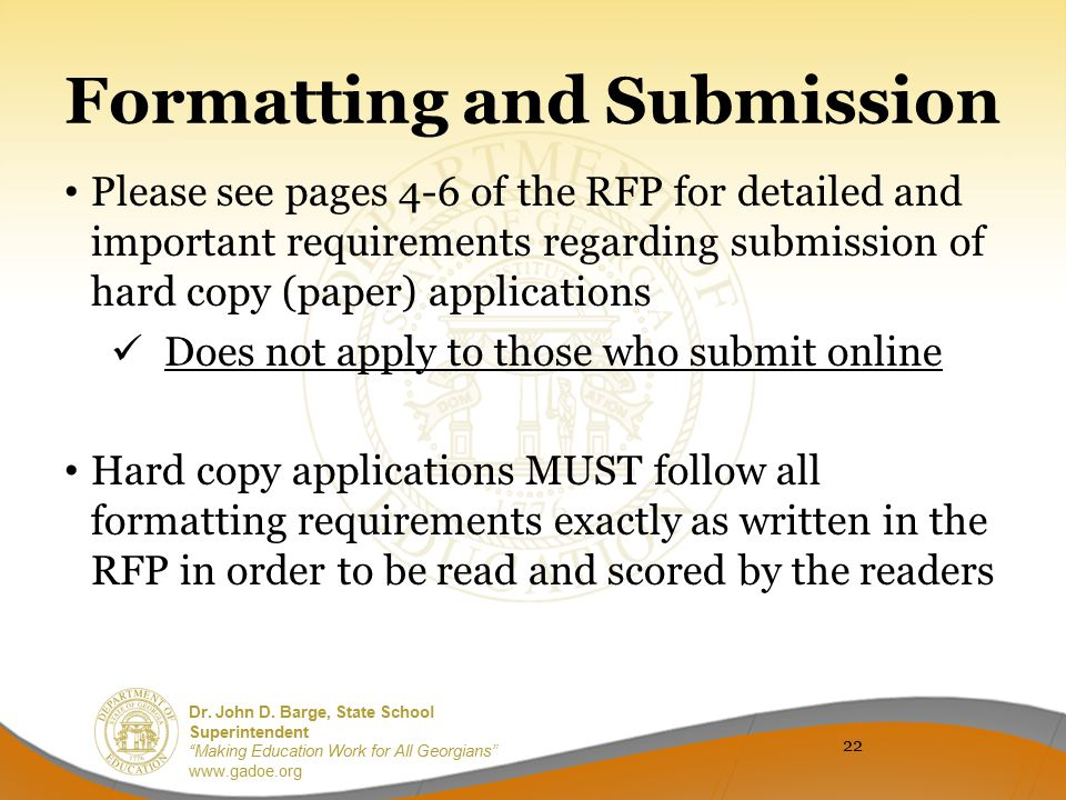 Formatting and Submission