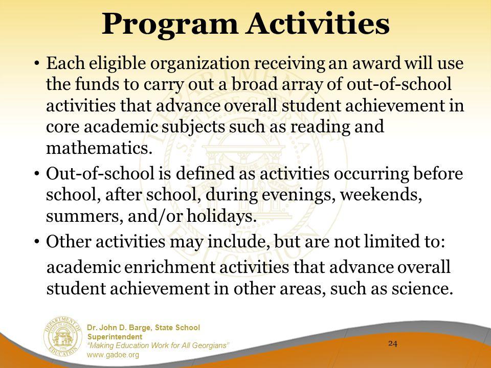 Program Activities