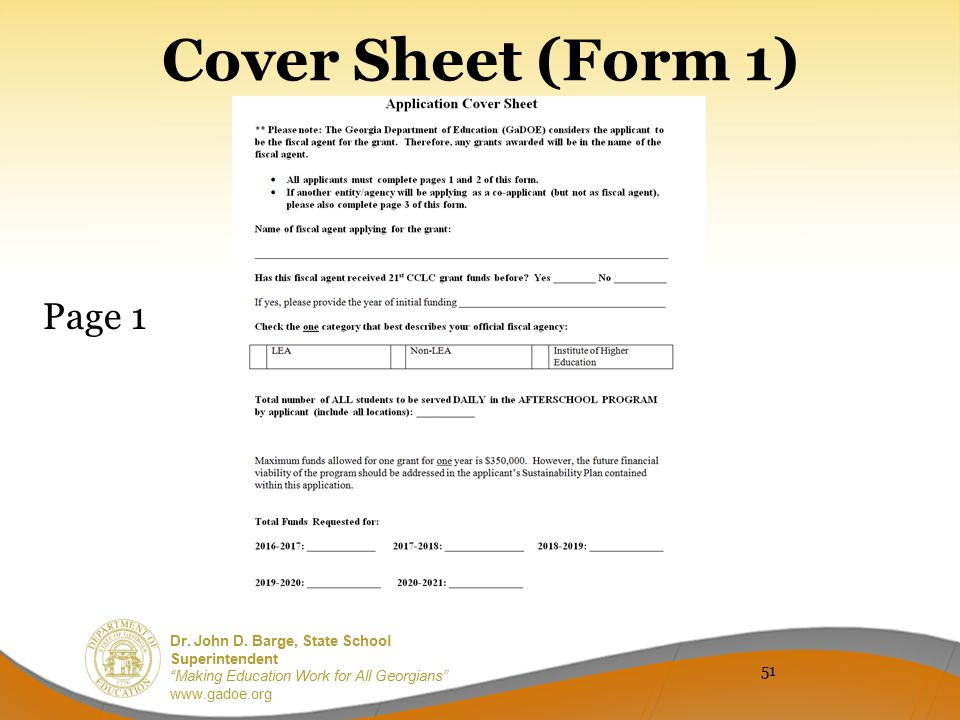 Cover Sheet (Form 1) Page 1 51