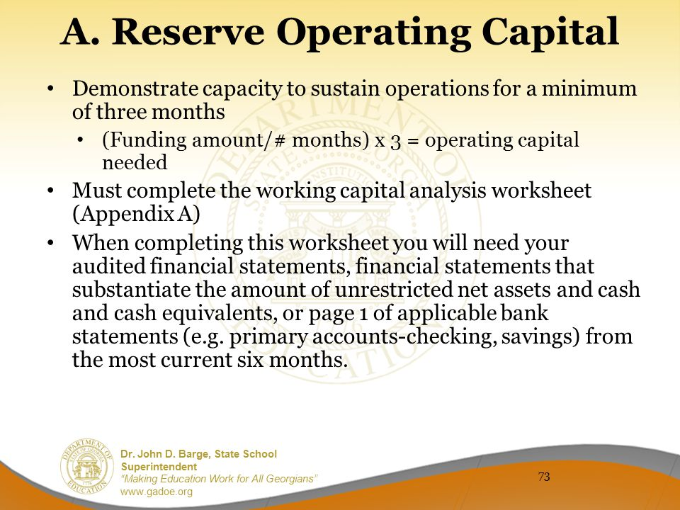 A. Reserve Operating Capital