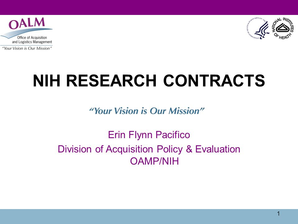 NIH RESEARCH CONTRACTS