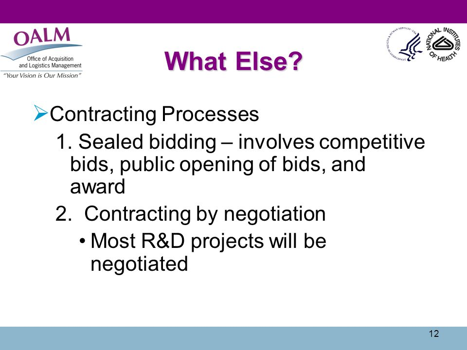 What Else Contracting Processes