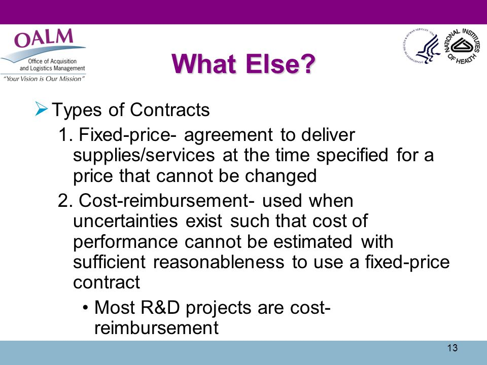 What Else Types of Contracts