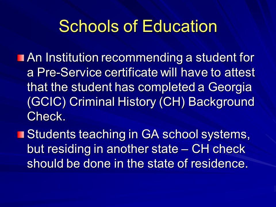 Schools of Education
