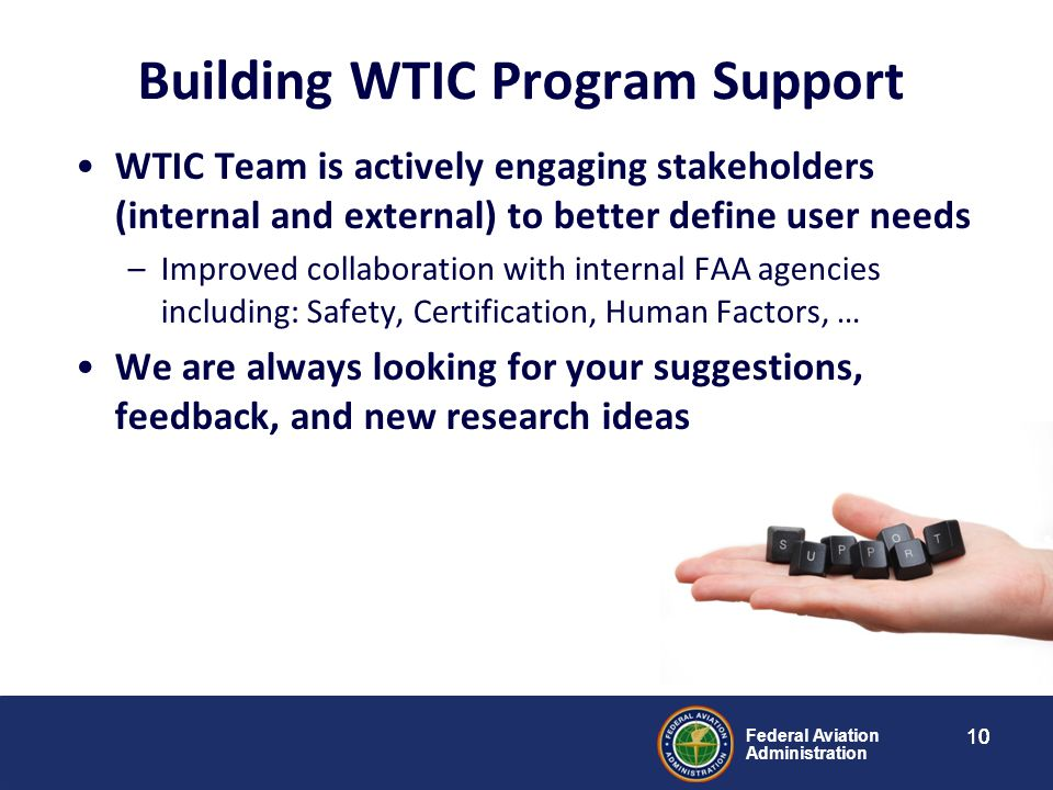 Building WTIC Program Support