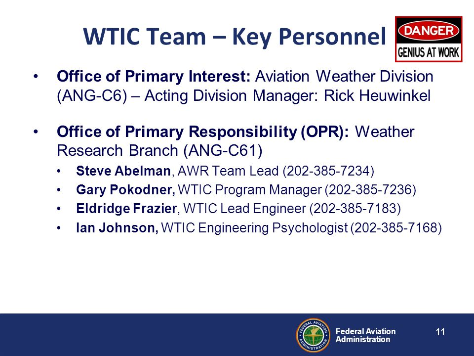 WTIC Team – Key Personnel
