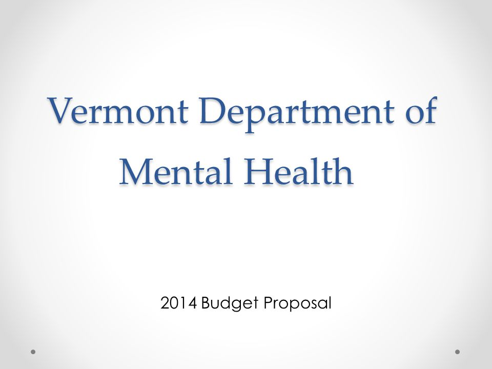 Vermont Department of Mental Health