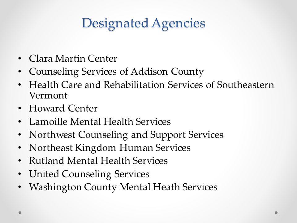 Designated Agencies Clara Martin Center